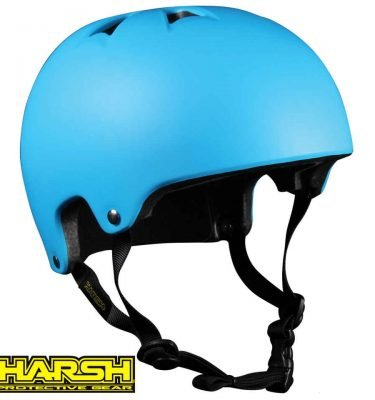 HARSH PRO EPS Helmet Blue - Best Skateboard Helmet - Wake2o Shrewsbury UK