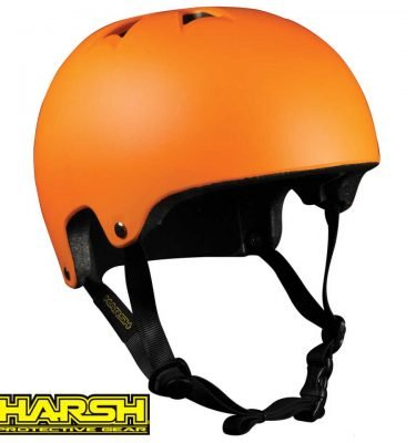 HARSH PRO EPS Helmet Orange - Best Skateboard Helmet - Wake2o Shrewsbury UK
