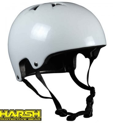 HARSH PRO EPS Helmet Pearl white - Best Skateboard Helmet - Wake2o Shrewsbury UK