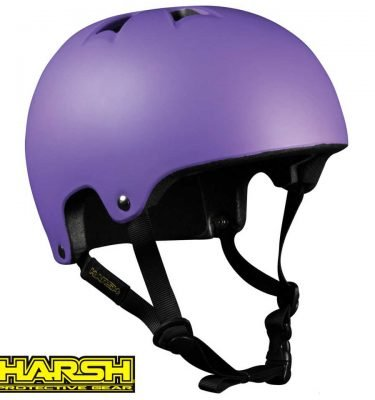 HARSH PRO EPS Helmet Purple - Best Skateboard Helmet - Wake2o Shrewsbury UK