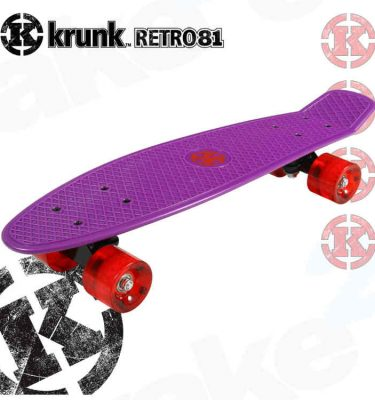Krunk Retro Mini Skateboard Purple - Shrewsbury Skate Shop - Wake2o UK
