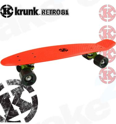 Krunk Retro Mini Skateboard Red - Shrewsbury Skate Shop - Wake2o UK