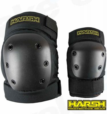 Harsh Pro Park Knee And Elbow Pads Set - Best Cheap Protection For Sale Online - UK Skate Shop - Wake2o