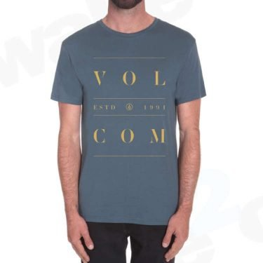 Volcom Space Out T shirt Airforce Blue - Best Surf And Skate Clothing - UK Skate Shop - Wake2o