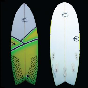 Graham smith surfboards retro fish - Jordy Smith Model - GREEN / YELLOW