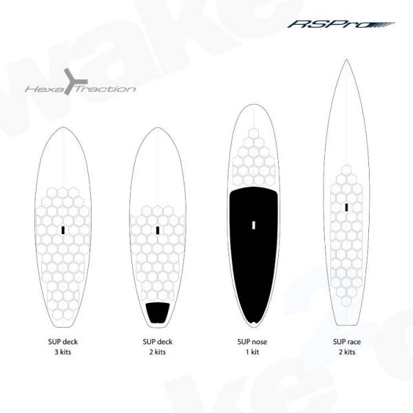 RSPro Hexatraction SUP Board Grip - Ideal for all surfboards and SUP - Shrewsbury Surf Shop - Wake2o