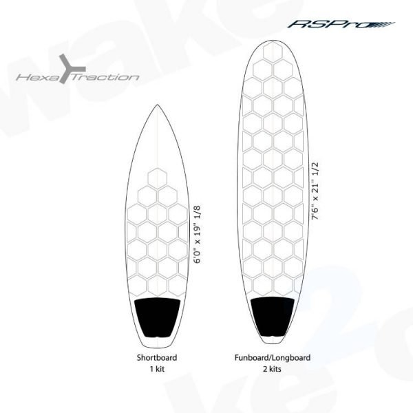 RSPro Hexatraction Surfboard Grip - Ideal for all surfboards and SUP - Shrewsbury Surf Shop - Wake2o