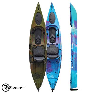 Riber Deluxe Fishing Kayak 1P - wake2o.co.uk