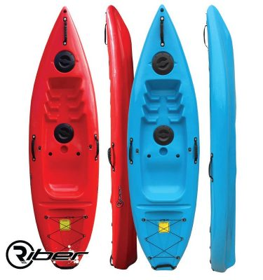 Riber Standard Sit On Top Kayak - RED - LAKE BLUE