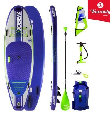 JOBE VENTA 9.6 INFLATABLE PADDLE BOARD WITH VENTA SUP SAIL - wind sup windsurfer package