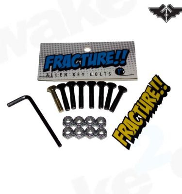 """Fracture 1"""" Skateboard Truck Bolts - Black - Cheap UK Skateboard Accessories, Completes, decks, Trucks And Wheels For Sale From UK Skate Shop Wake2o"""
