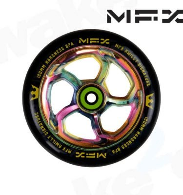 MGP MFX R Willy Hurricane Signature 120mm Scooter Wheels - Neo chrome - Buy Best Cheap Stunt Scooters Online At Wake2o.co.uk