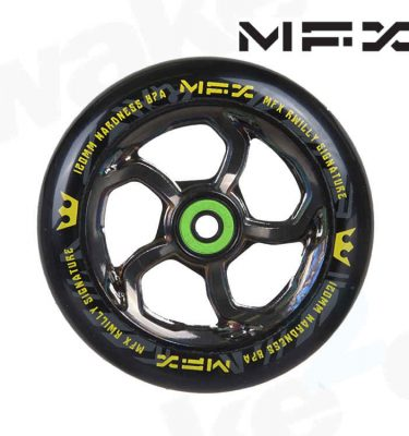 MGP MFX R Willy Hurricane Signature 120mm Scooter Wheels - Nickel - Buy Best Cheap Stunt Scooters Online At Wake2o.co.uk