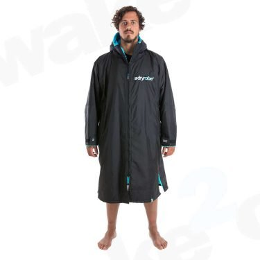 Dryrobe Short Sleeve Black Blue - Surf Accessories At Wake2o.co.uk