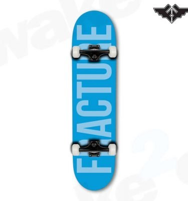 Fracture Fade Blue Skateboard Complete - 7.75 - Hardwear And Accessories - Buy Best Cheap Skateboards Online At Wake2o.co.uk
