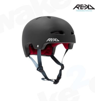 REKD Ultralite In-Mold Helmet - Black - Best Skateboard Helmets - Wake2o
