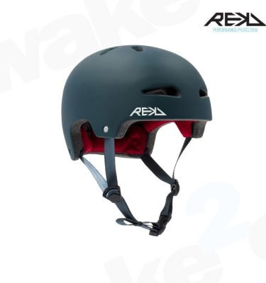 REKD Ultralite In-Mold Helmet - Blue - Best Skateboard Helmets - Wake2o