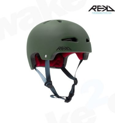 REKD Ultralite In-Mold Helmet - Green - Best Skateboard Helmets - Wake2o