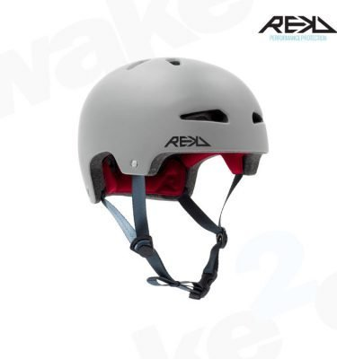 REKD Ultralite In-Mold Helmet - Grey - Best Skateboard Helmets - Wake2o