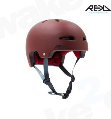 REKD Ultralite In-Mold Helmet - Red - Best Skateboard Helmets - Wake2o
